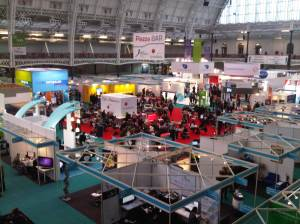 Online 2010 exhibition hall at London Olympia