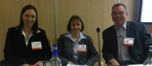 Presenters Angela Ashenden, Helen Clegg and Gordon Vala-Webb