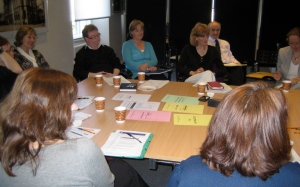 Focus group members discuss how research findings are disseminated