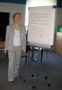 Hazel Hall introduces the focus group