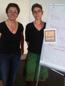 Jenny Gebel and Ella Taylor-Smith