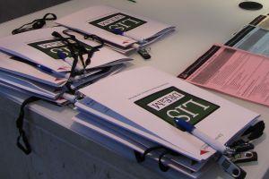 DREaM project launch delegate folders and data sticks