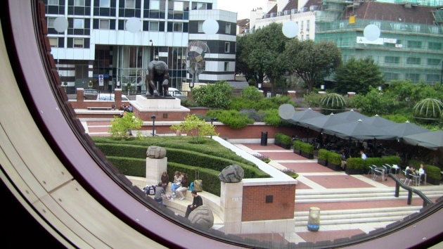 The British Library piazza