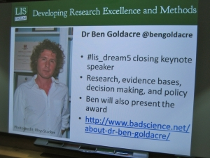 Ben Goldacre announcement